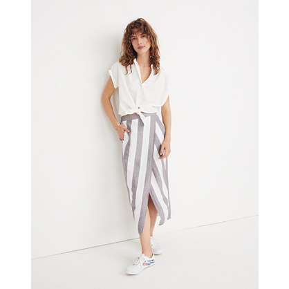 Striped Overlay Skirt by Madewell
