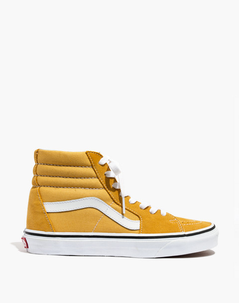 Vans® Unisex SK8-Hi High-Top Sneakers in Ochre Suede in ochre image 3