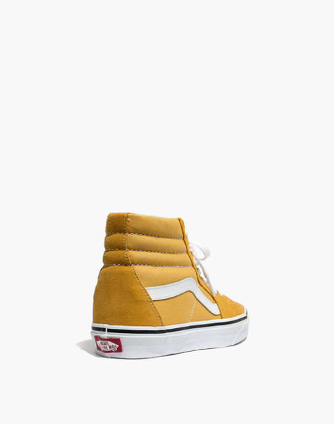 Vans® Unisex SK8-Hi High-Top Sneakers in Ochre Suede in ochre image 4