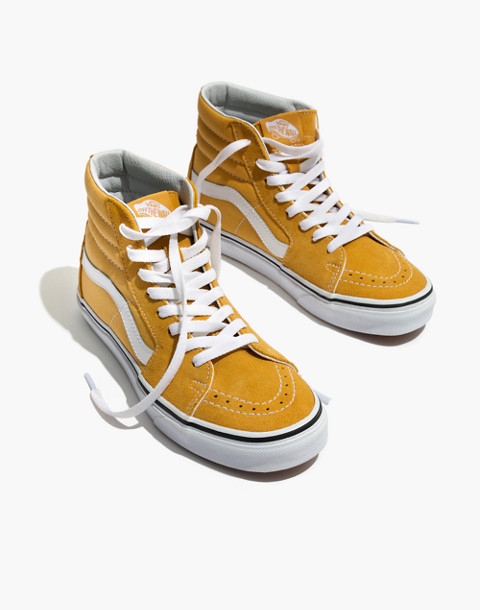 Vans® Unisex SK8-Hi High-Top Sneakers in Ochre Suede in ochre image 1