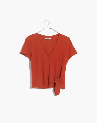 Texture & Thread Wrap-Tie Top in spiced cinnamon image 4