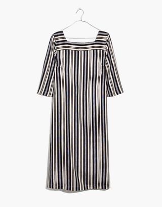 Square-Neck Midi Dress in Evelyn Stripe