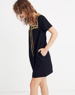 Mirror-Embroidered Dress