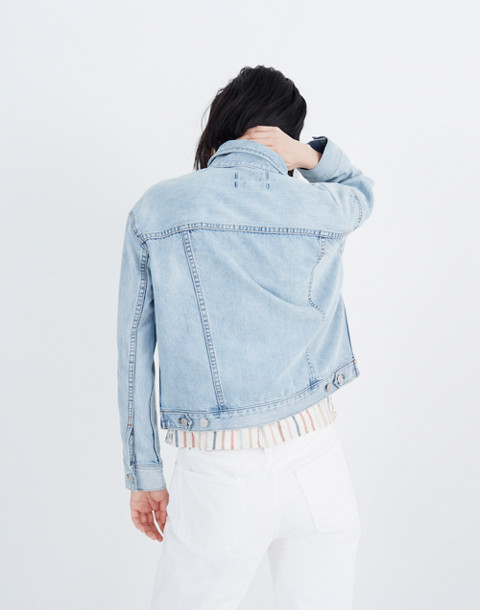 The Boxy-Crop Jean Jacket in Fitzgerald Wash in fitzgerald wash image 3