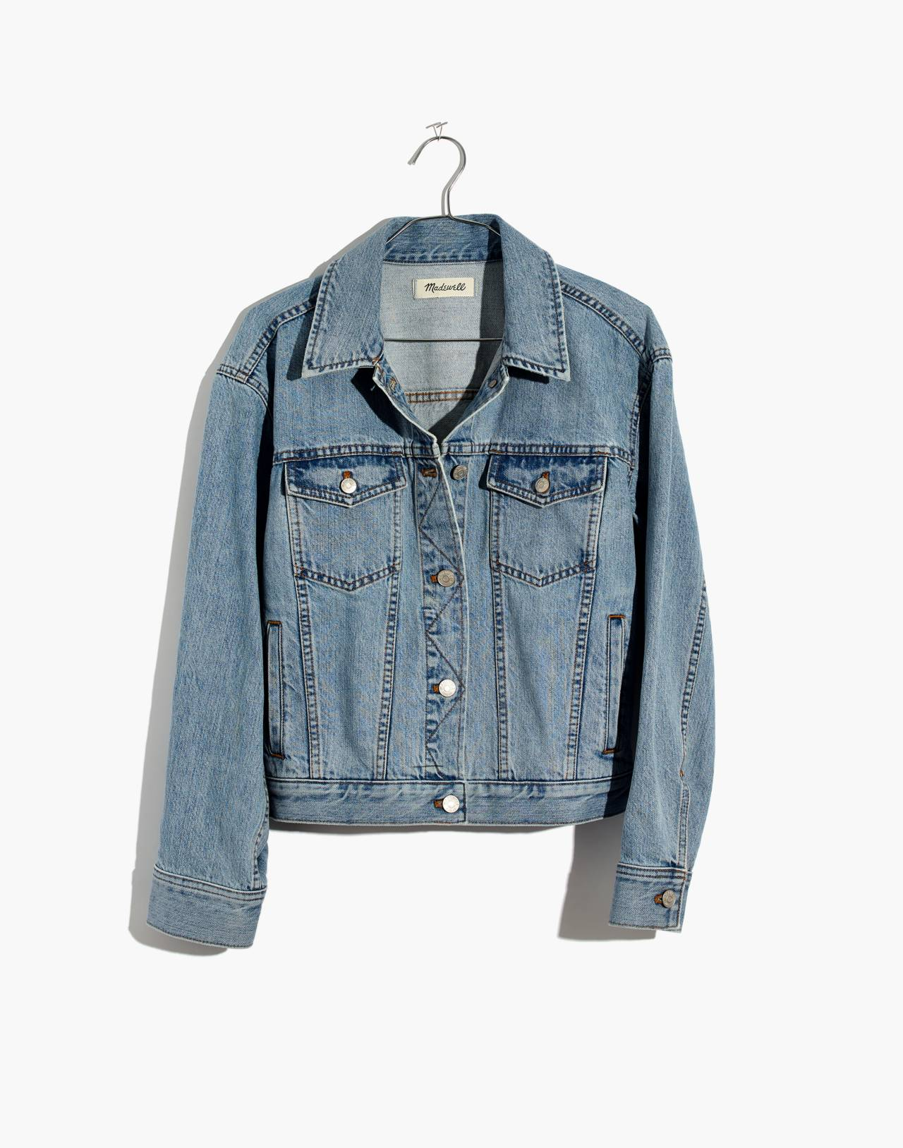 The Boxy-Crop Jean Jacket in Fitzgerald Wash in fitzgerald wash image 4