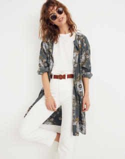 Robe Jacket in Painted Blooms