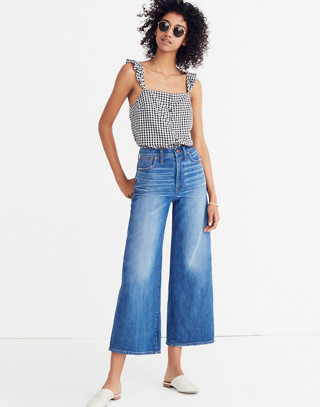 Tall Wide-Leg Crop Jeans in Finney Wash