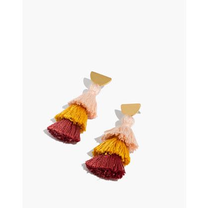 Tiered Tassel Earrings by Madewell