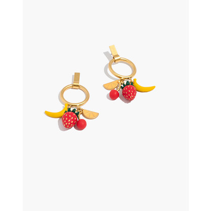 Fresh Fruit Hoop Earrings