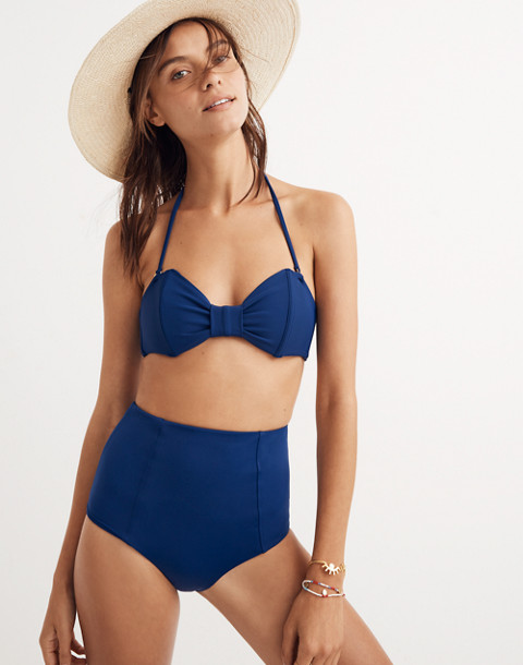 The Ones Who™ Madeline Bikini Top in navy image 3