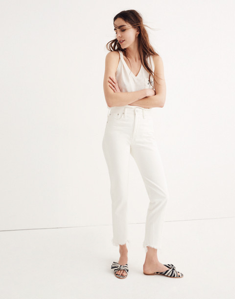 The Petite Perfect Summer Jean in Tile White: Destructed-Hem Edition