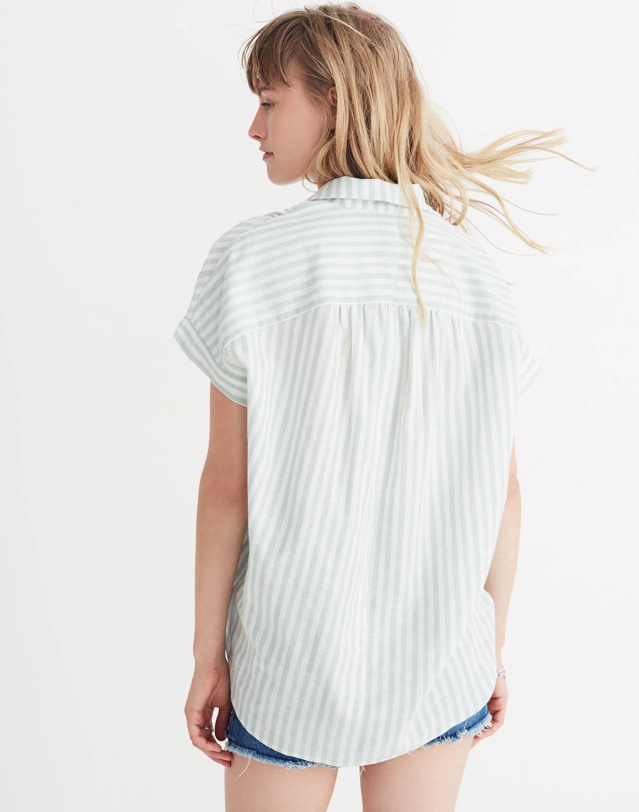 Central Shirt in Mint Stripe in mint stripe sea haze image 2