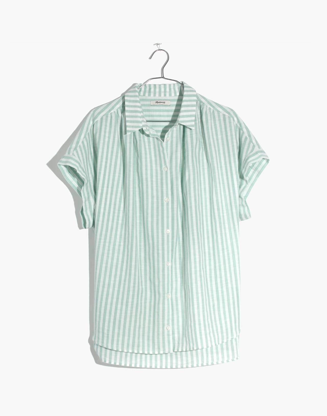 Central Shirt in Mint Stripe in mint stripe sea haze image 4