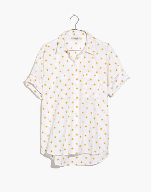 Sun Embroidered Courier Shirt in sol celestial gold image 4