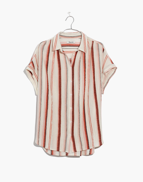 Central Shirt in Albee Stripe in rusted clay image 4