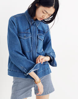 Denim Army Swing Jacket