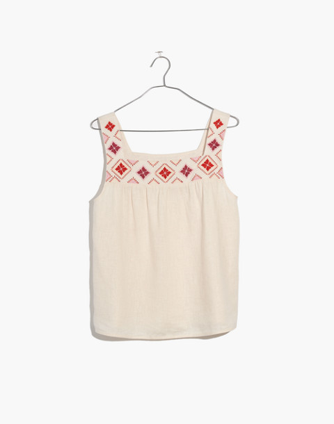 Embroidered Island Tank Top