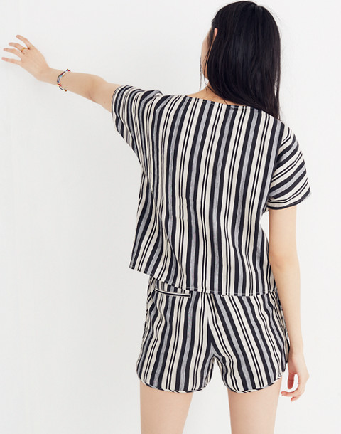 Boxy Top in Evelyn Stripe