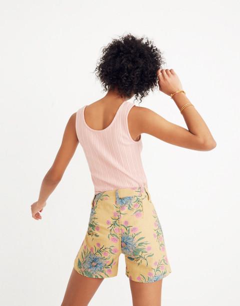 Emmett Shorts in Painted Blooms in van greek gold image 2