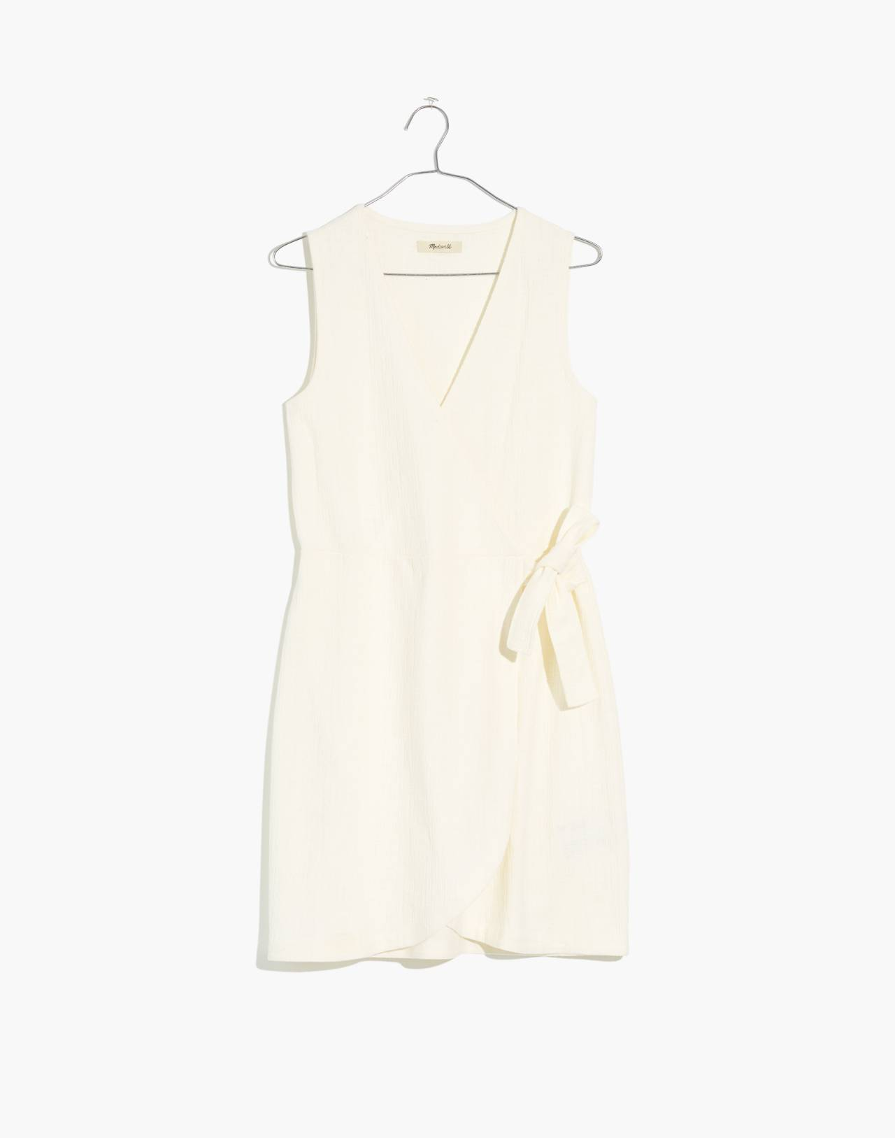 Texture & Thread Side-Tie Dress in bright ivory image 4