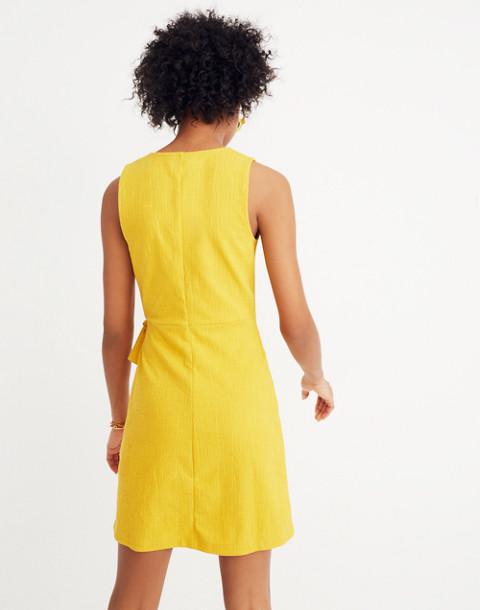 Texture & Thread Side-Tie Dress in celestial gold image 3