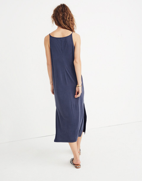 Sandwashed Midi Slip Dress in deep indigo image 3