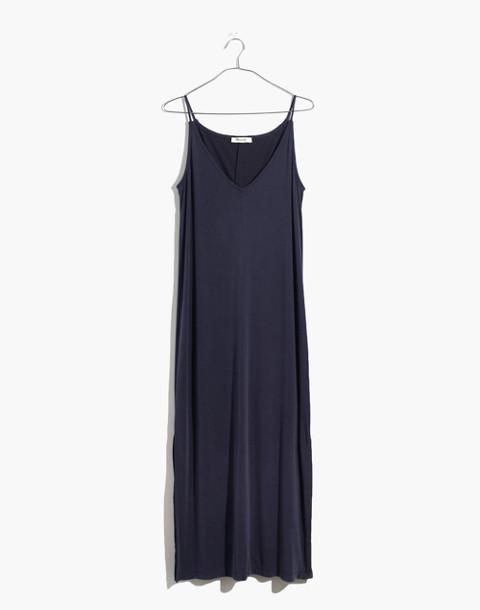 Sandwashed Midi Slip Dress in deep indigo image 4