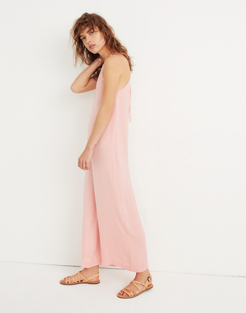 Keyhole Wide-Leg Jumpsuit in Pink Icing in pink icing image 2