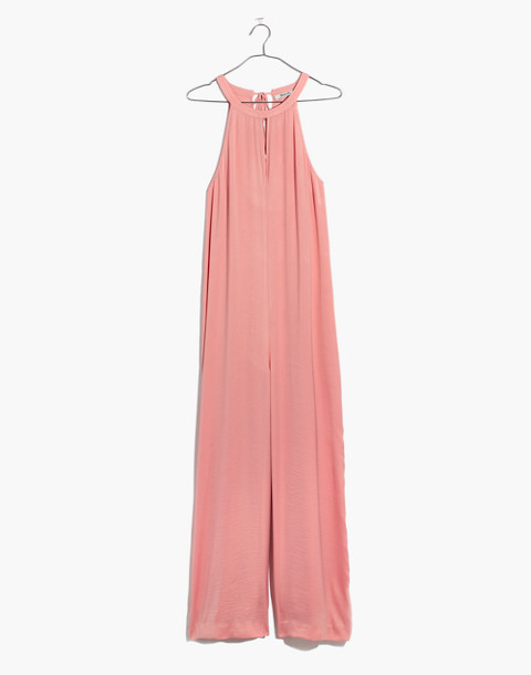 Keyhole Wide-Leg Jumpsuit in Pink Icing in pink icing image 4