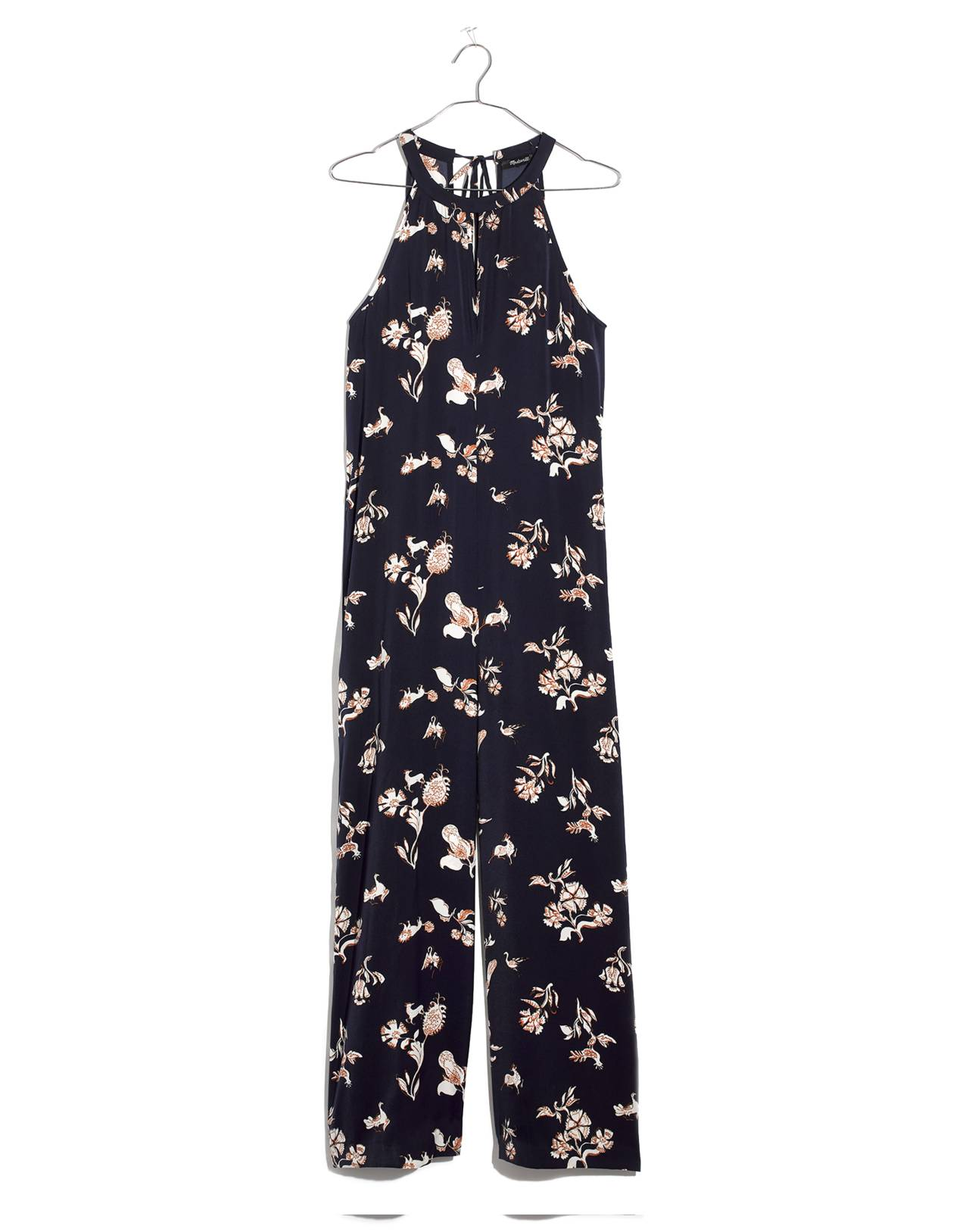 Keyhole Wide-Leg Jumpsuit in Menagerie in folklore print nightfall image 4