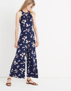 Keyhole Wide-Leg Jumpsuit in Menagerie