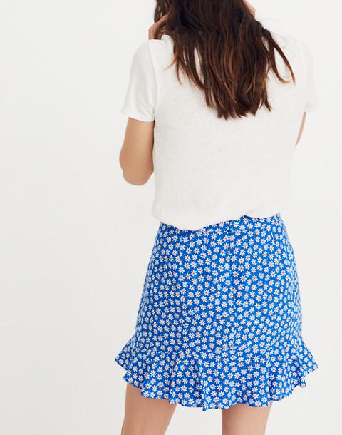 Ruffle-Edge Skirt in Mini Daisy in camille brilliant royal image 2