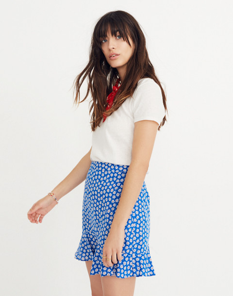 Ruffle-Edge Skirt in Mini Daisy in camille brilliant royal image 3