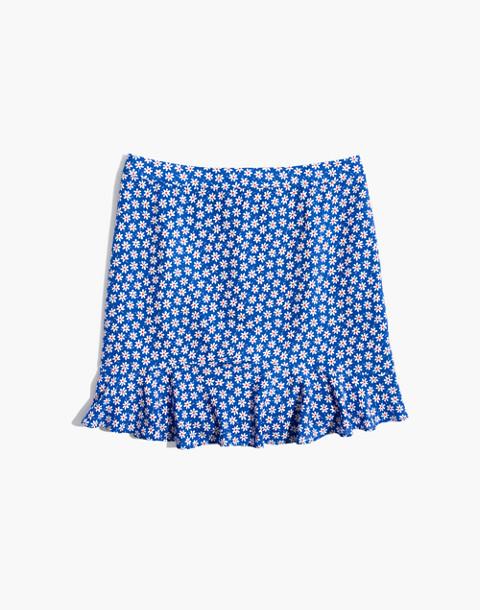 Ruffle-Edge Skirt in Mini Daisy in camille brilliant royal image 4