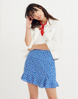 Ruffle-Edge Skirt in Mini Daisy