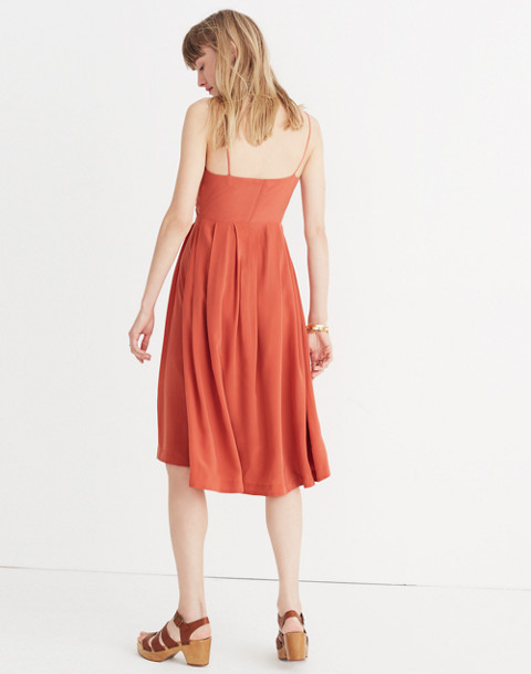 Silk Fern Cami Dress in spiced rose image 2