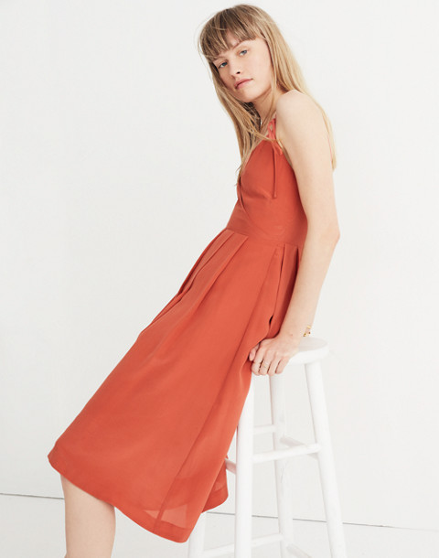 Silk Fern Cami Dress in spiced rose image 3