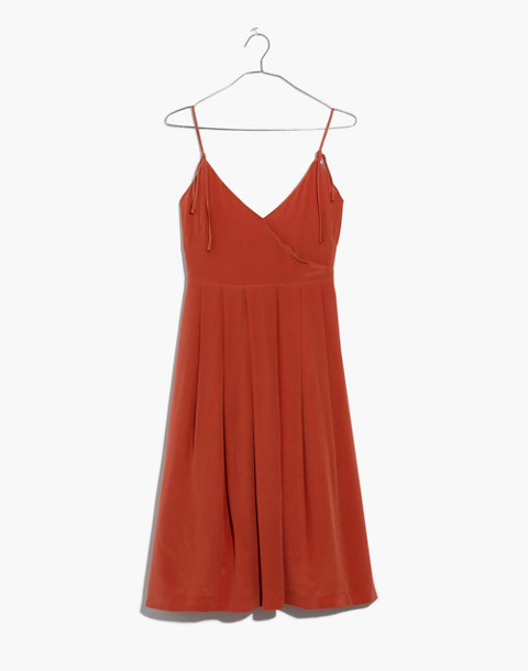 Silk Fern Cami Dress in spiced rose image 4