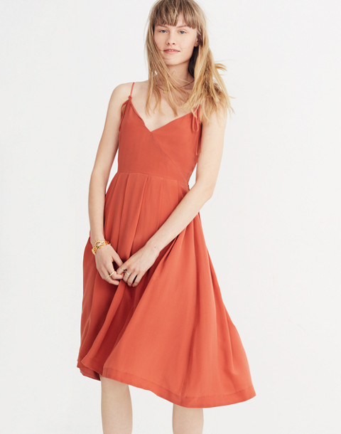 Silk Fern Cami Dress in spiced rose image 1