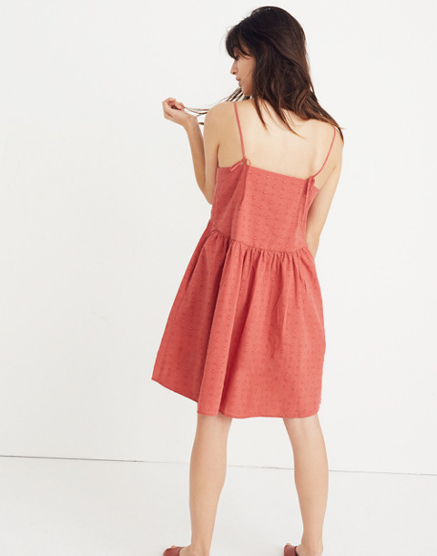 Embroidered Sunflower Cami Dress in spiced rose image 3