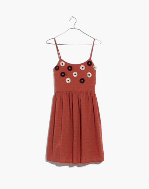 Embroidered Sunflower Cami Dress in spiced rose image 4