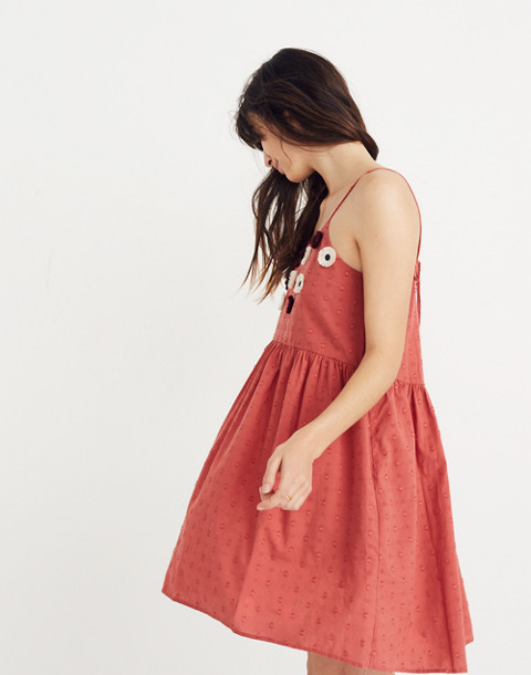 Embroidered Sunflower Cami Dress in spiced rose image 1