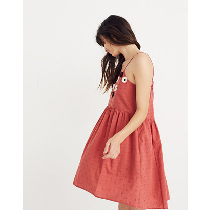 Pre Order Embroidered Sunflower Cami Dress by Madewell