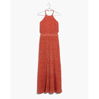 Halter Tie Back Midi Dress In Twisted Vines by Madewell