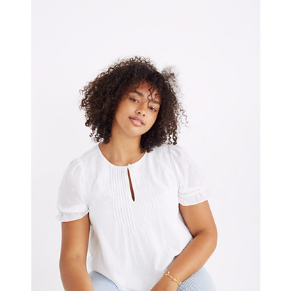 Embroidered Pintuck Top by Madewell