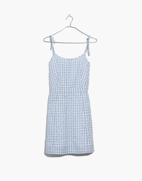 Gingham Tie-Strap Dress