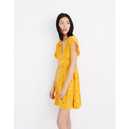 Silk Belladonna Dress In Painted Carnations by Madewell