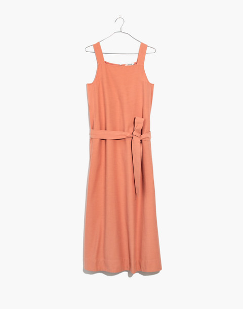 Apron Tie-Waist Dress in antique coral image 4