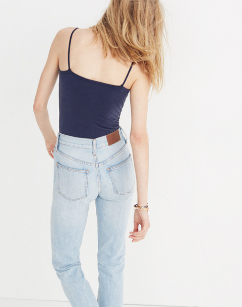 Sandwashed Cami Bodysuit in deep indigo image 3