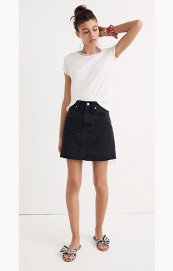 Denim Frisco Mini Skirt in Lunar Wash